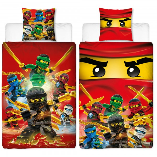 Lego Ninjago Champion Fire Bettwäsche Biber Flanell