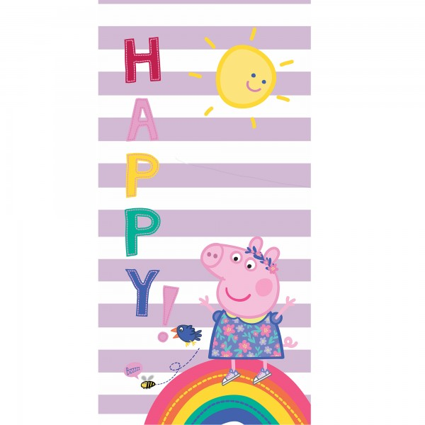Peppa Wutz Pig Badetuch Happy 75x150