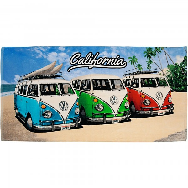 VW Volkswagen Bulli California 027 Badetuch 75x150