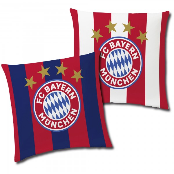 FC Bayern München Kissen Stripes 40x40