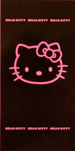 HELLO KITTY 75/150 BLACK FUCHSIA * BADETUCH STRANDLAKEN SAUNATUCH zur BETTWÄSCHE