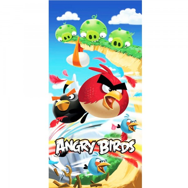 Angry Birds Badetuch Cliffhanger 75x150