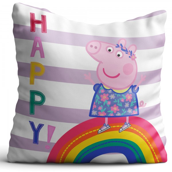 Peppa Wutz Pig Kissen Happy 40X40
