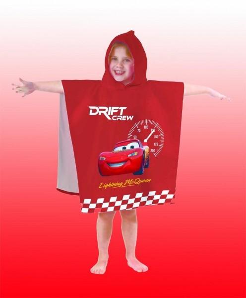 DISNEY CARS BADETUCH PONCHO BADEMANTEL 60x120 DUSCHTUCH STRANDTUCH ~ NEUHEIT/OVP