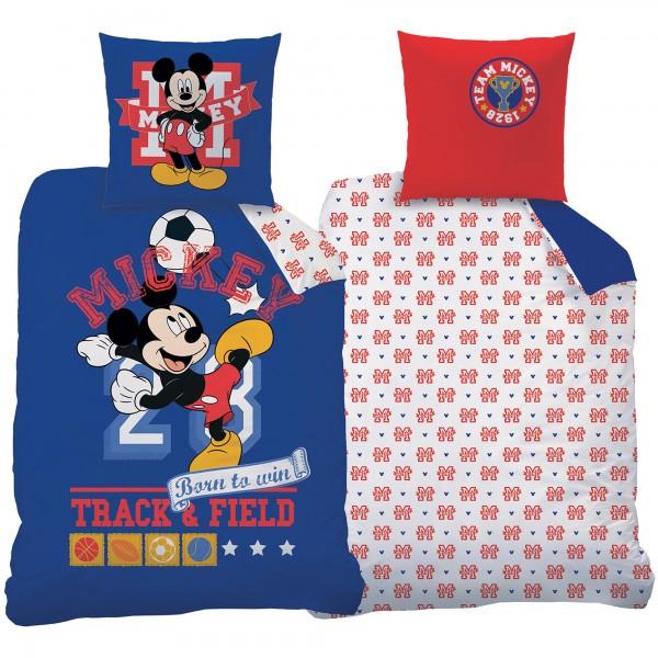 Mickey Mouse Fußball Bettwäsche Linon / Renforcé