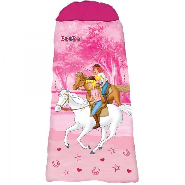Bibi und Tina Freunde Kinder-Schlafsack 140 cm + 30 cm (Kapuze) x 70 cm