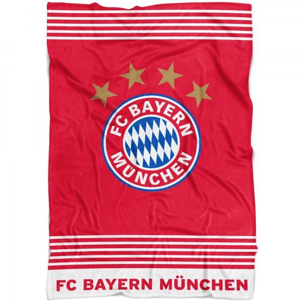 FC Bayern München FCB Rekordmeister Decke 150x200