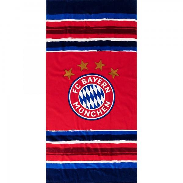 FC Bayern München FCB Strandtuch Stripes 75x150