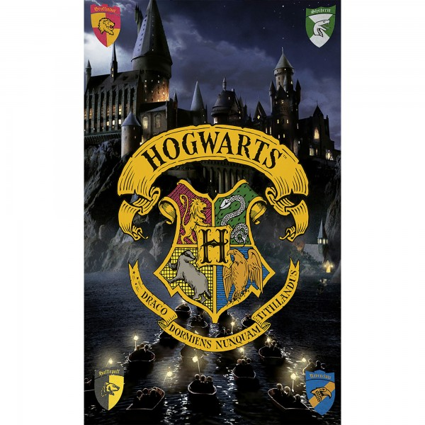 Harry Potter Hogwarts Badetuch 75x150
