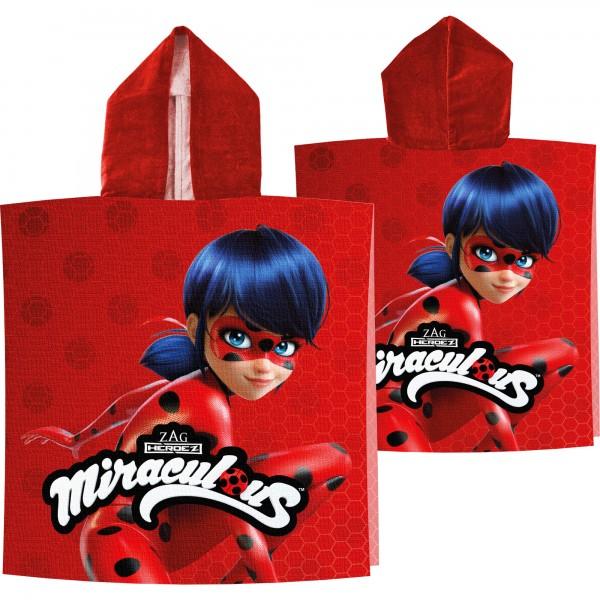 Miraculous Ladybug Kinder Kaputzen Poncho 60x120
