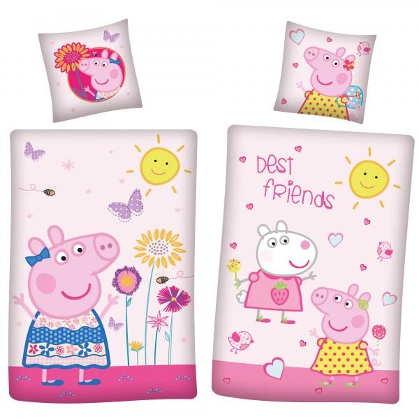 Peppa Wutz Pig Friends Bettwäsche Linon / Renforcé