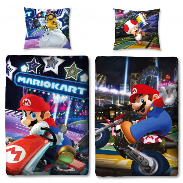 Super Mario Kart Bettwäsche Linon / Renforcé