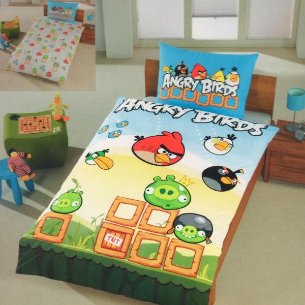 Angry Birds Game Bettwäsche Linon / Renforcé