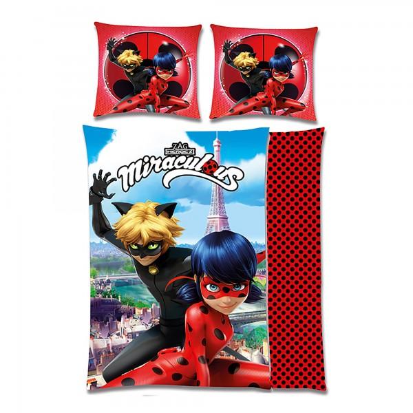 Miraculous Ladybug Eiffelturm Bettwäsche Linon / Renforcé