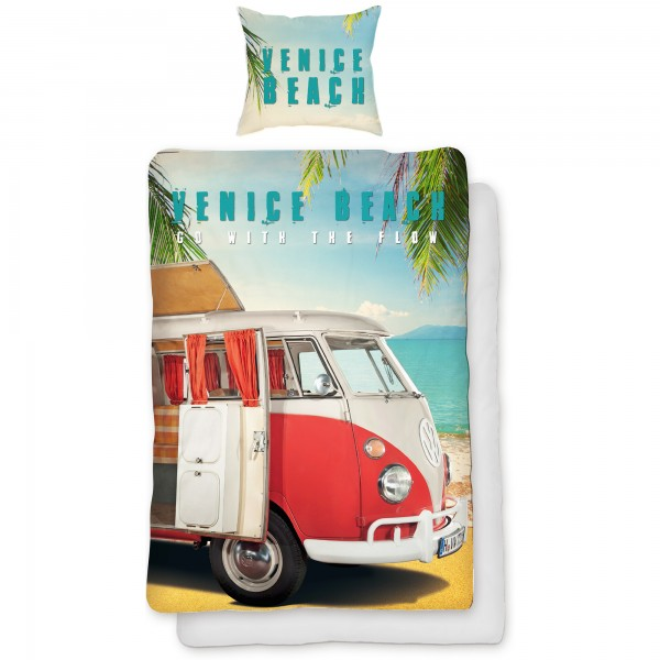 VW Volkswagen Bulli Venice Beach 067 Bettwäsche Linon / Renforcé