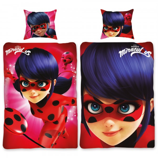 Miraculous Ladybug Picture Bettwäsche Biber / Flanell