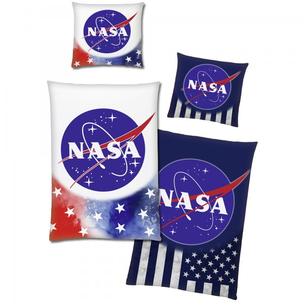 NASA Stars & Stripes Glow in The Dark Bettwäsche Linon / Renforcé