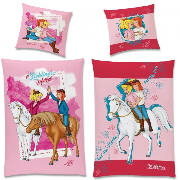 Bibi und Tina Lieblingspferd Bettwäsche Biber / Flanell