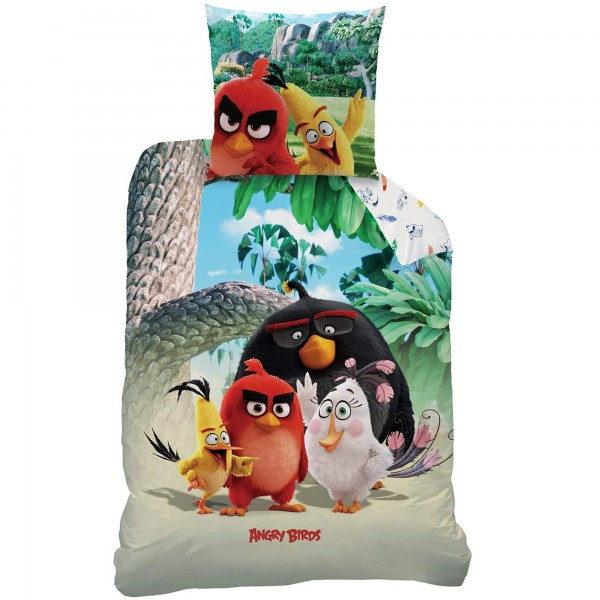 Angry Birds Palm Beach Bettwäsche Biber / Flanell