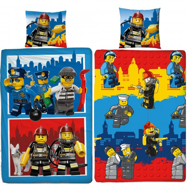 Lego City Crew Bettwäsche Linon / Renforcé